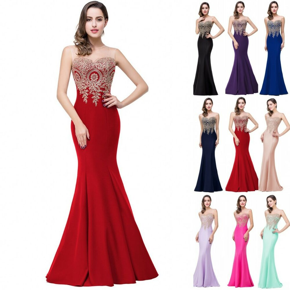 2017 Formal Wedding Bridesmaid Long Evening Party Ball Prom Gown Cocktail Dress  eBay