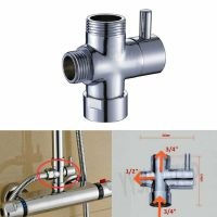"1/2"" 3/4"" BSP 3-Way T-Adapter Shower Head Diverter Valve ..."