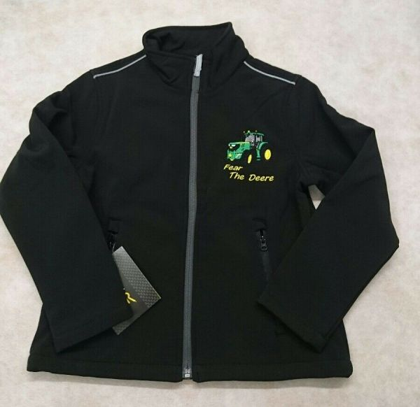 Childrens Kids Boys John Deere Regatta Soft-shell Jacket