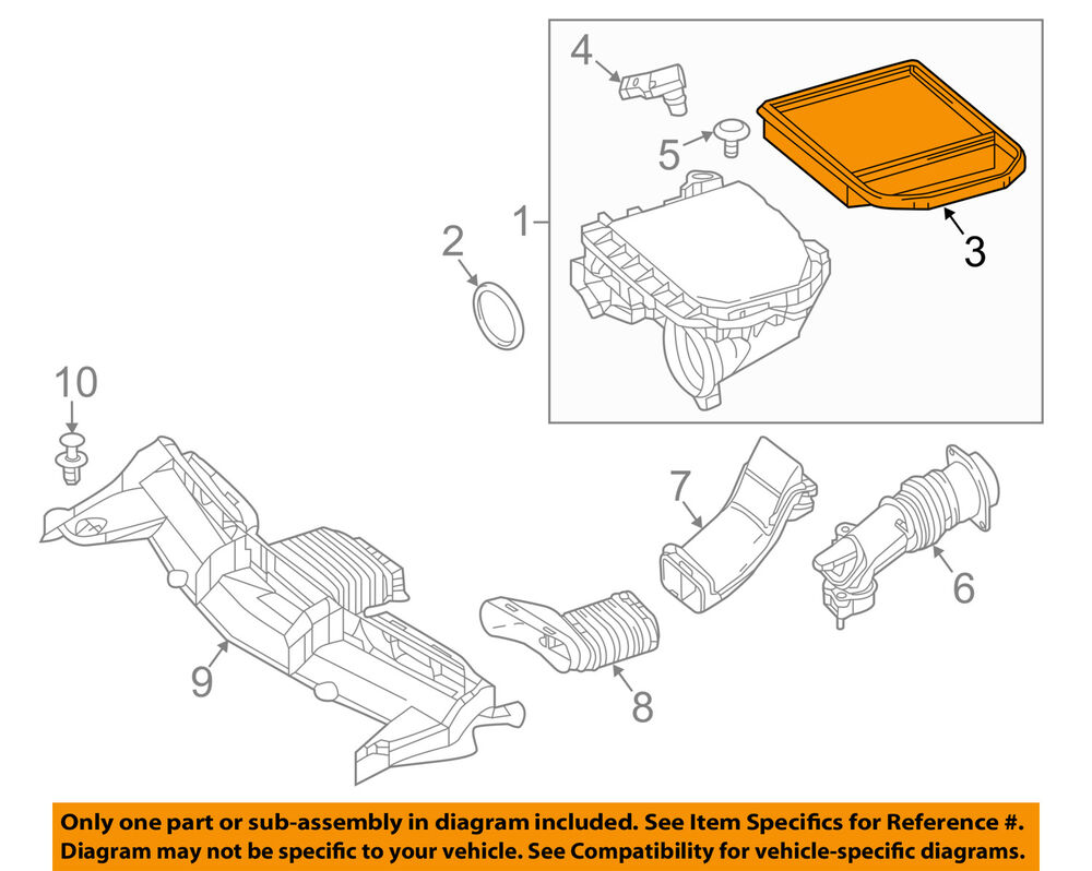 hight resolution of details about mercedes mercedes benz oem e400 engine air cleaner filter element 2760940504
