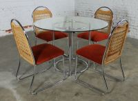 Mid Century Daystrom Round Glass and Chrome Dinette Table ...