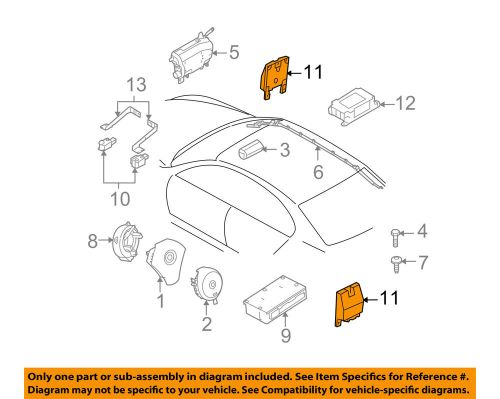 small resolution of details about bmw oem 04 05 645ci airbag air bag srs side impact sensor 65776962886