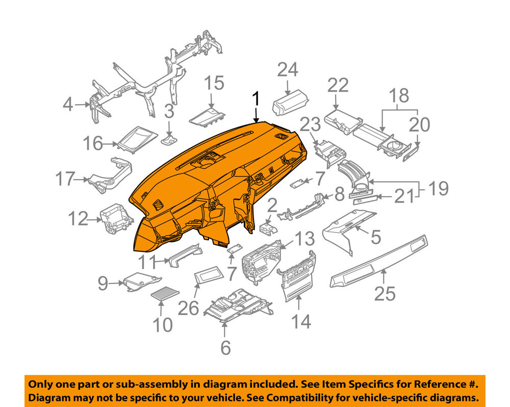 hight resolution of details about bmw oem 06 07 530xi instrument panel dash 51457836657