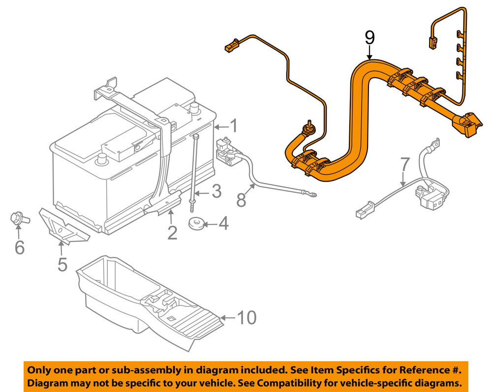 hight resolution of details about bmw oem 09 13 x5 3 0l l6 battery wiring harness 61129292713