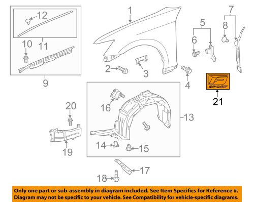 small resolution of details about lexus toyota oem 13 16 gs350 front fender emblem badge nameplate left 7536230011