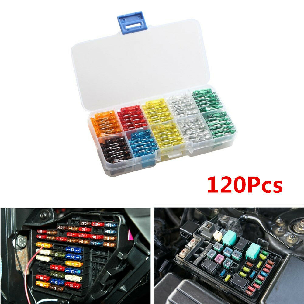 hight resolution of details about 120x mix car mini standard blade fuse 7 5 10 15 20 25 30 amp atm apm fuses box