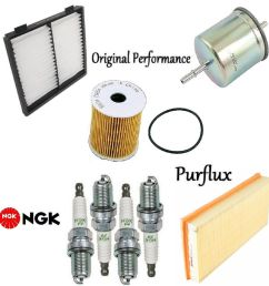 details about tune up kit cabin air oil fuel filters spark plugs for volvo s40 2001 2003 [ 996 x 1000 Pixel ]