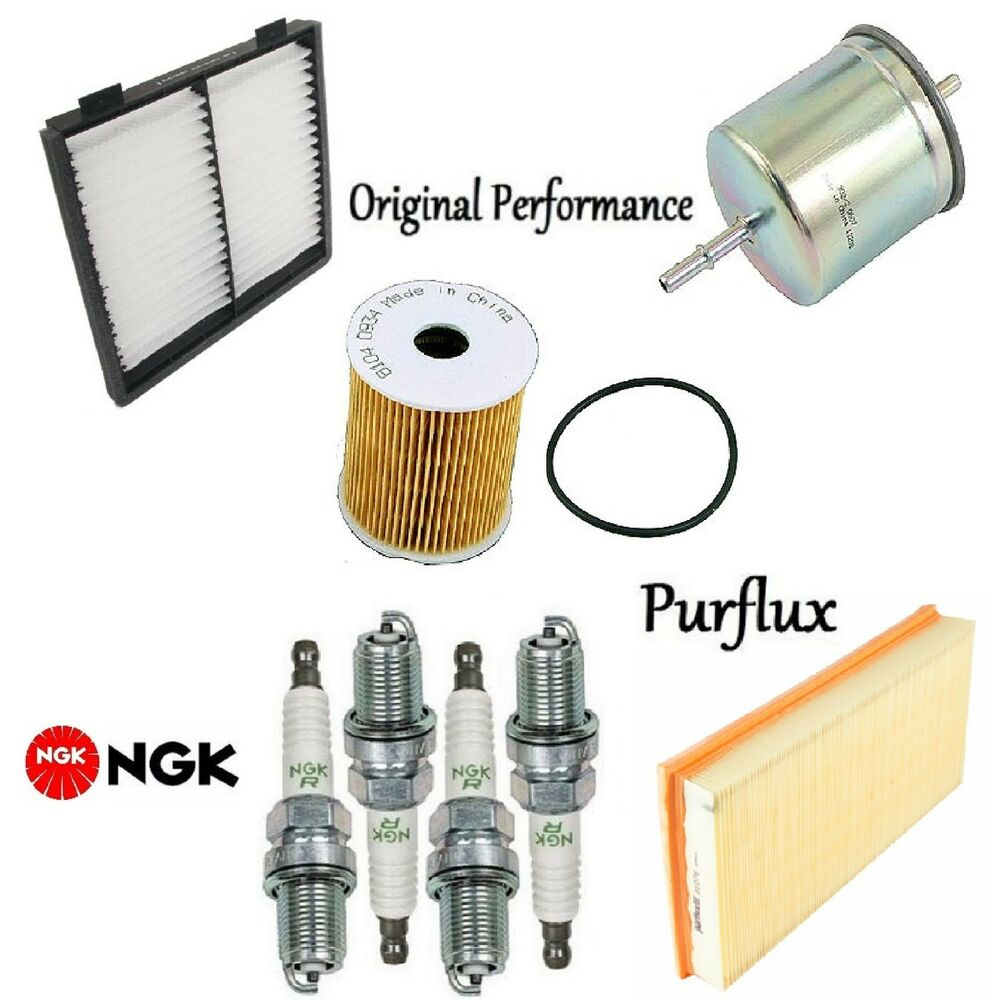 medium resolution of details about tune up kit cabin air oil fuel filters spark plugs for volvo s40 2001 2003