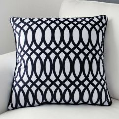 Cotton Velvet Sofa Sectional Sleeper Ikea New Black & White Geometric Pillow Case Decorative ...
