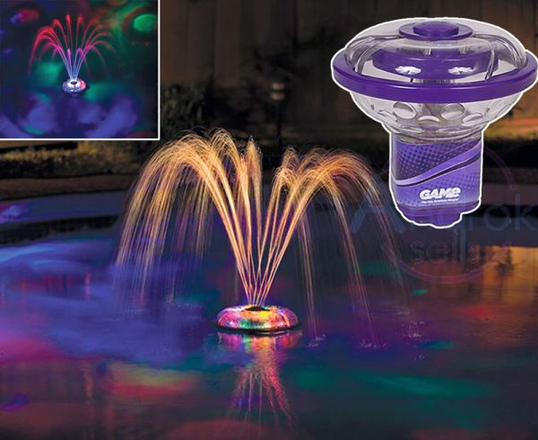 Fountain Light Show Swimming Pool Underwater Floating