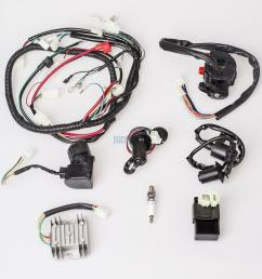 details about full electrics wiring harness cdi gy6 125 150cc atv quad go kart no coil stator [ 1000 x 1000 Pixel ]
