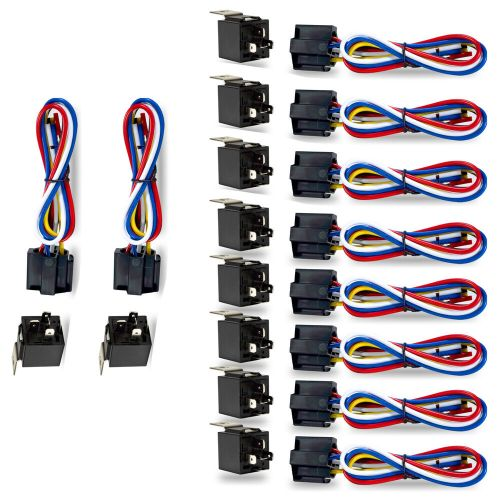 small resolution of details about 10 pack car 30 40 amp relay automotive harness socket 5 wires spdt 5 pin dc 12v
