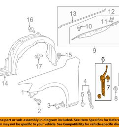 details about lexus toyota oem 14 16 is350 fender protector bracket support right 5382753040 [ 1000 x 798 Pixel ]