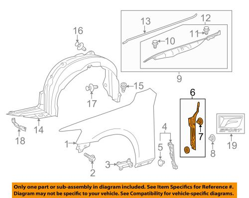 small resolution of details about lexus toyota oem 14 16 is350 fender protector bracket support right 5382753040