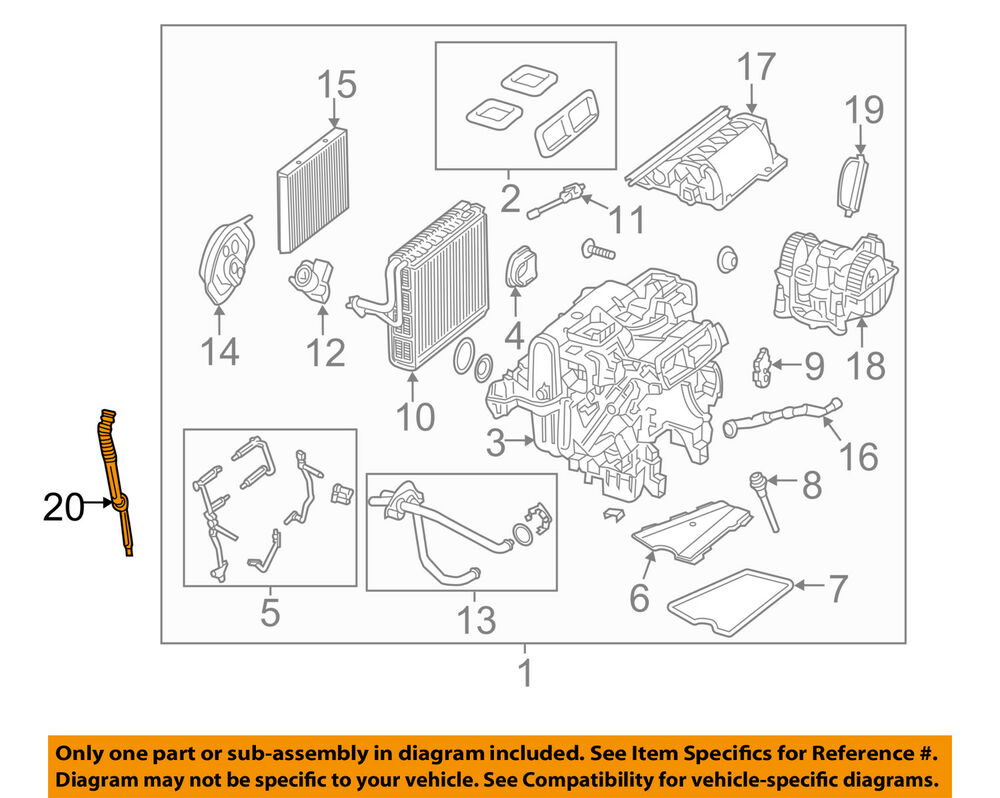 hight resolution of details about mercedes oem 14 16 s550 4 6l v8 a c ac evaporator heater drain hose 2228320394