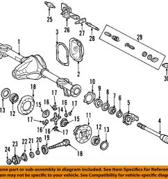 details about mercedes oem 02 08 g500 rear axle housing 4633500203 [ 1000 x 919 Pixel ]