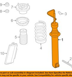 details about bmw oem 14 16 m6 gran coupe rear strut shock 33522284847 [ 1000 x 798 Pixel ]