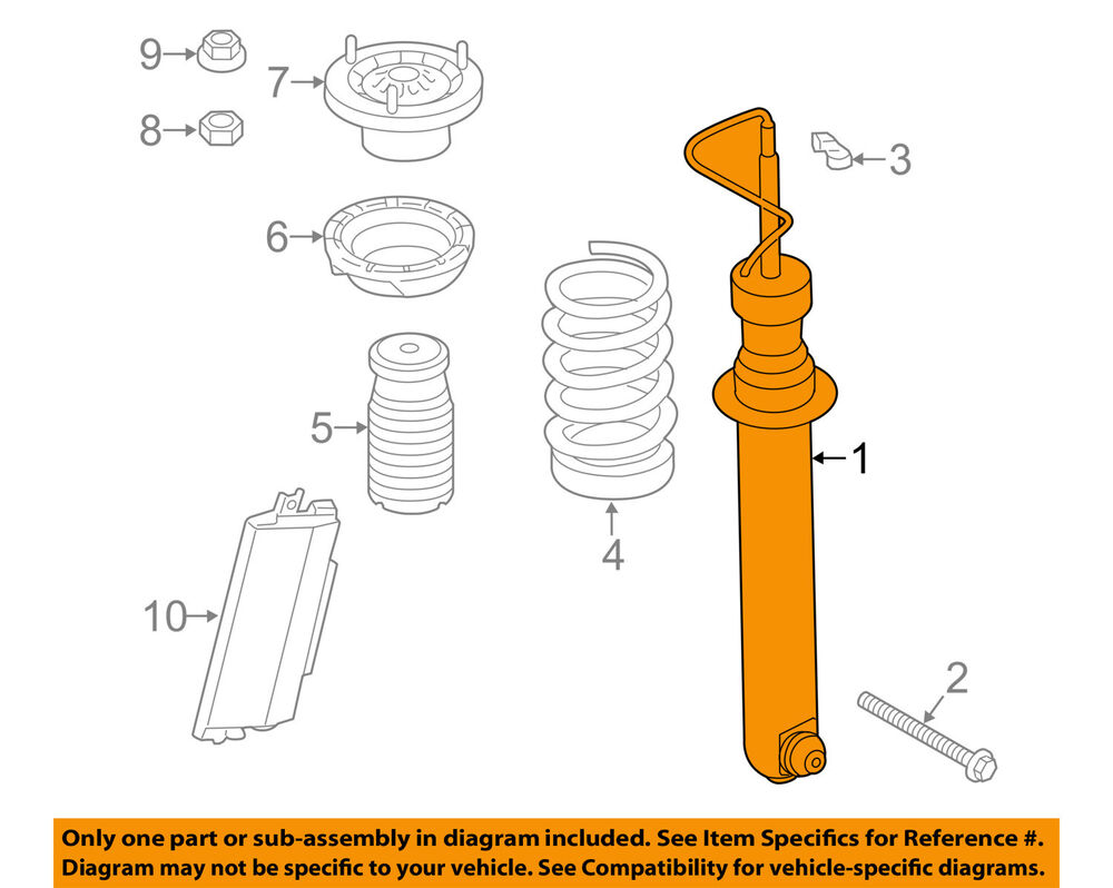 hight resolution of details about bmw oem 14 16 m6 gran coupe rear strut shock 33522284847