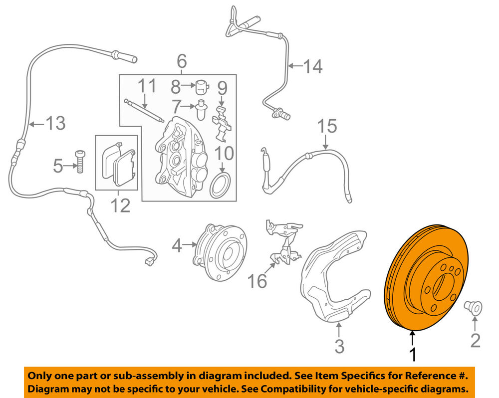 hight resolution of details about bmw oem 14 16 335i gt xdrive disc brake rotor 34106797603