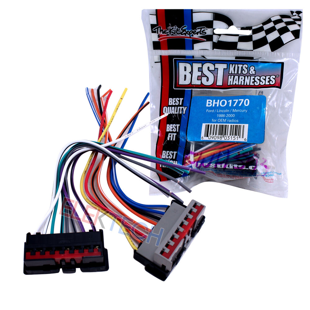 hight resolution of details about best kits bho1770 oem factory radio replacement install harness for ford
