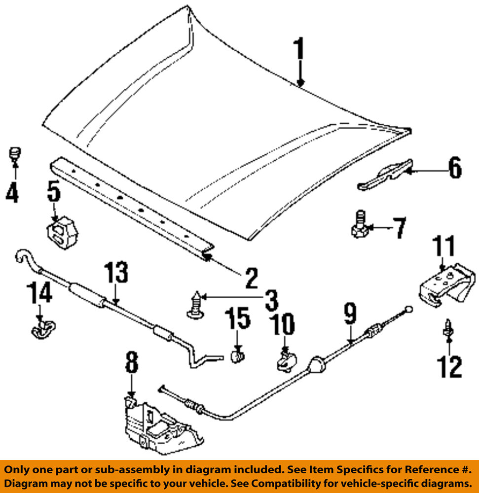 hight resolution of details about honda oem hood release cable clip 1739076180
