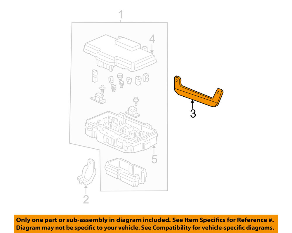 hight resolution of details about honda oem 01 05 civic electrical fuse box bracket 38252s5a000