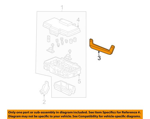 small resolution of details about honda oem 01 05 civic electrical fuse box bracket 38252s5a000