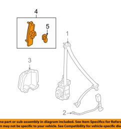 details about honda oem 03 07 accord front seat belt height adjuster 81460sdaa01za [ 1000 x 798 Pixel ]