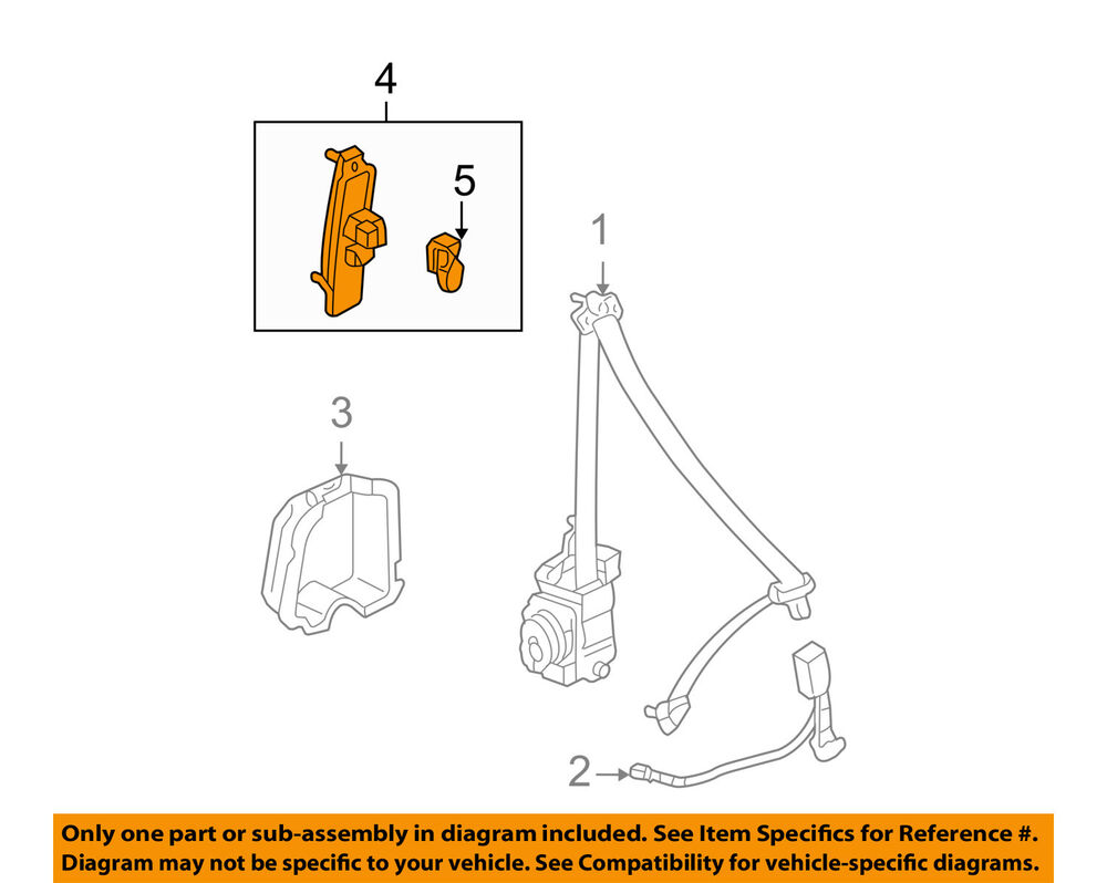 hight resolution of details about honda oem 03 07 accord front seat belt height adjuster 81460sdaa01za