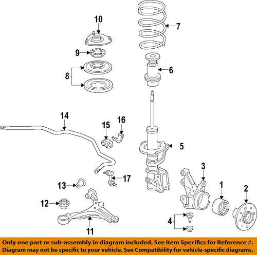 small resolution of honda oem 02 05 civic front suspension strut bumper 51722s6a004 ebay honda civic front end diagram on 2006 honda odyssey bumper diagram