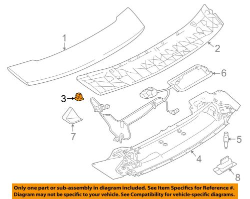 small resolution of details about porsche oem 12 16 911 engine lid spoiler buffer 99970388540