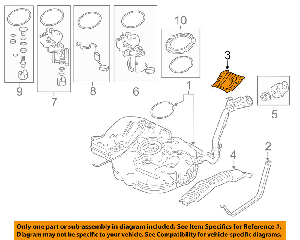 hight resolution of details about honda oem 16 17 civic 1 5l l4 fuel system baffle 74660tbaa00