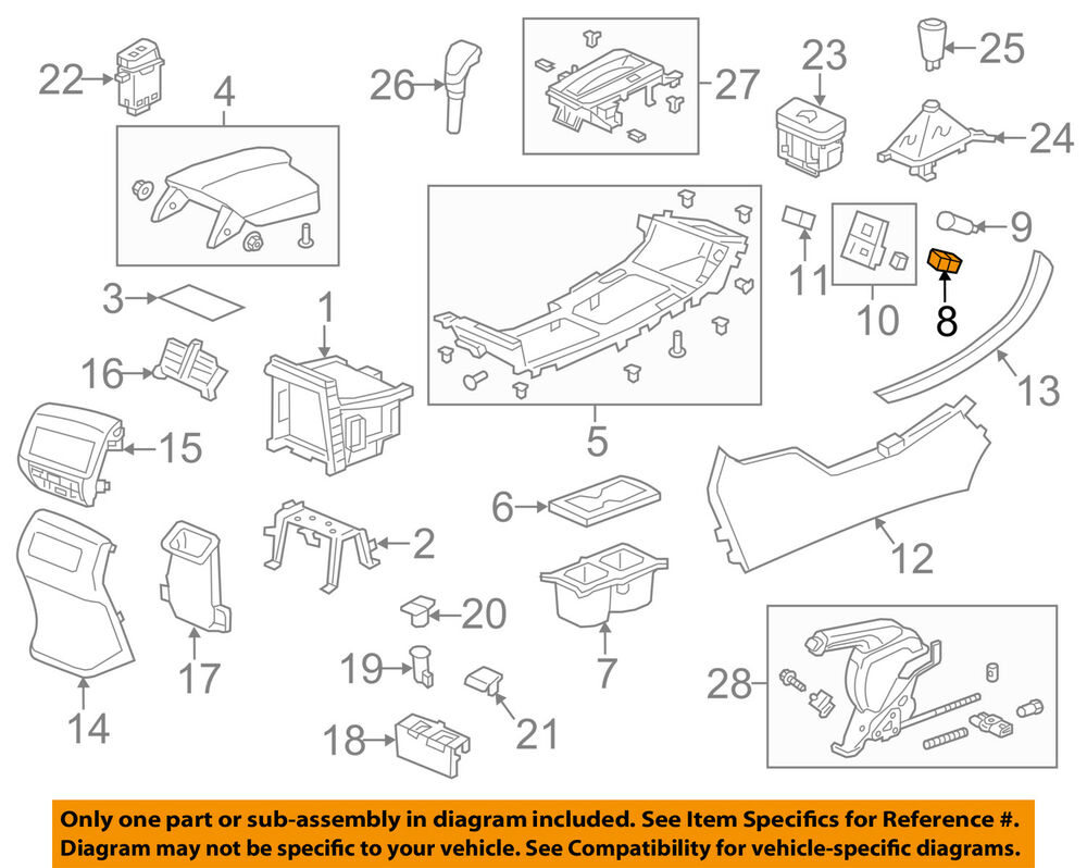 hight resolution of details about honda oem accord center console auxiliary radio stereo input jack 39112t2aa01