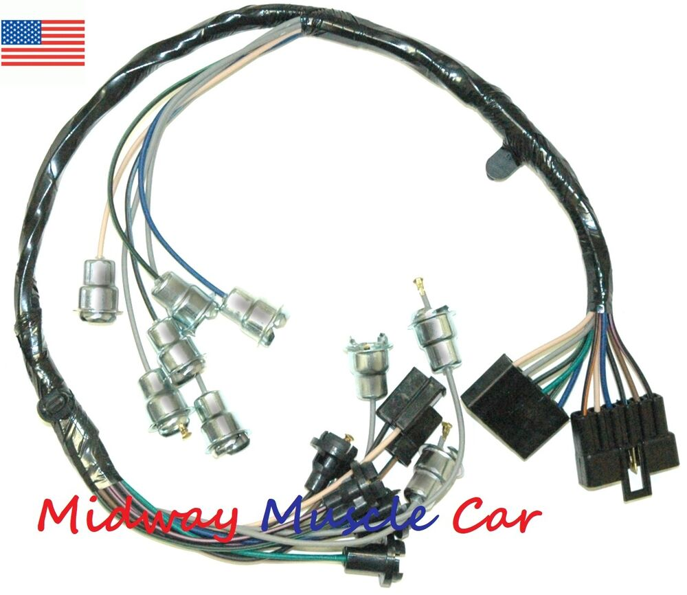 medium resolution of details about dash instrument cluster feed wiring harness 63 64 65 chevy impala biscayne