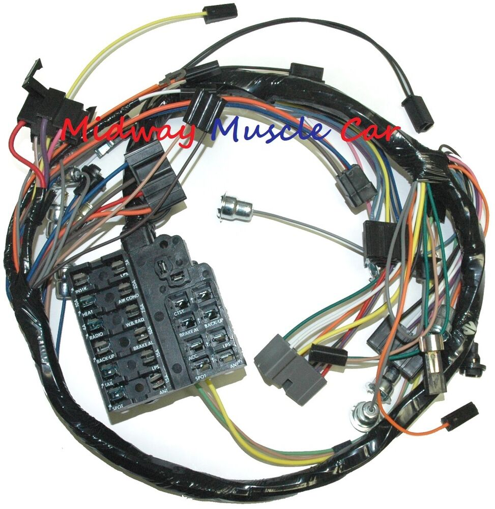 medium resolution of details about dash wiring harness with fuseblock 58 62 chevy impala biscayne bel air el camino