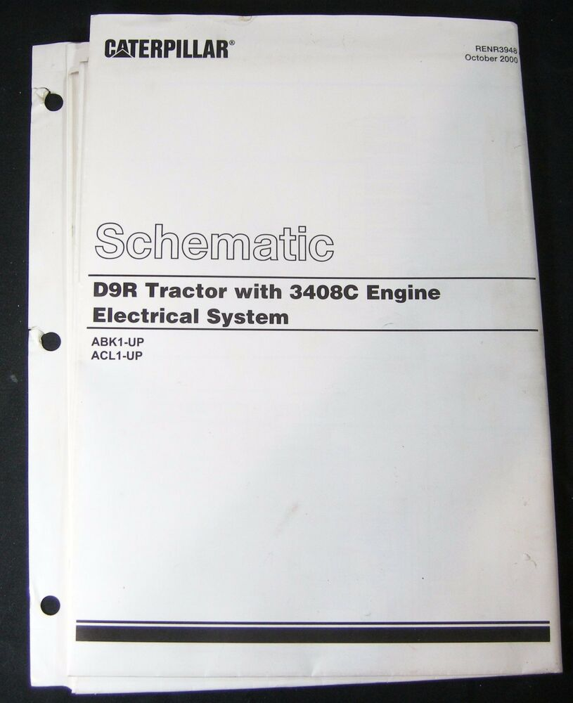 medium resolution of details about caterpillar d9r dozer tractor 3408c engine electrical schematic abk1 acl1 cat