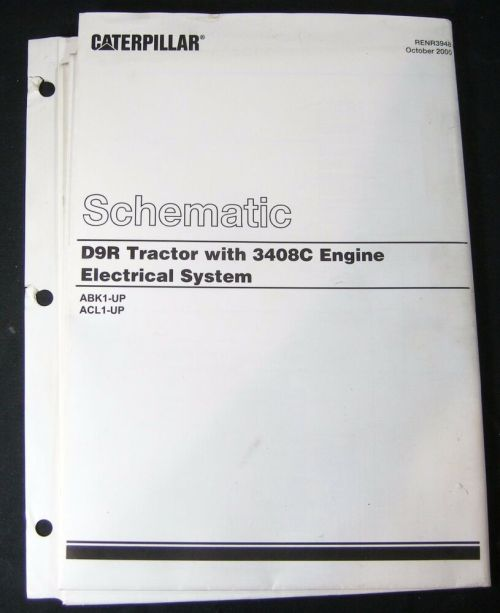 small resolution of details about caterpillar d9r dozer tractor 3408c engine electrical schematic abk1 acl1 cat