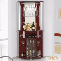 Corner Home Bar Liquor Cabinet Pub Furniture Wine Bottle