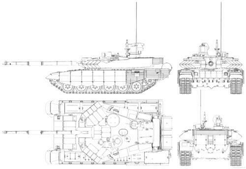 T90 BATTLE TANK DIAGRAM GLOSSY POSTER PICTURE PHOTO