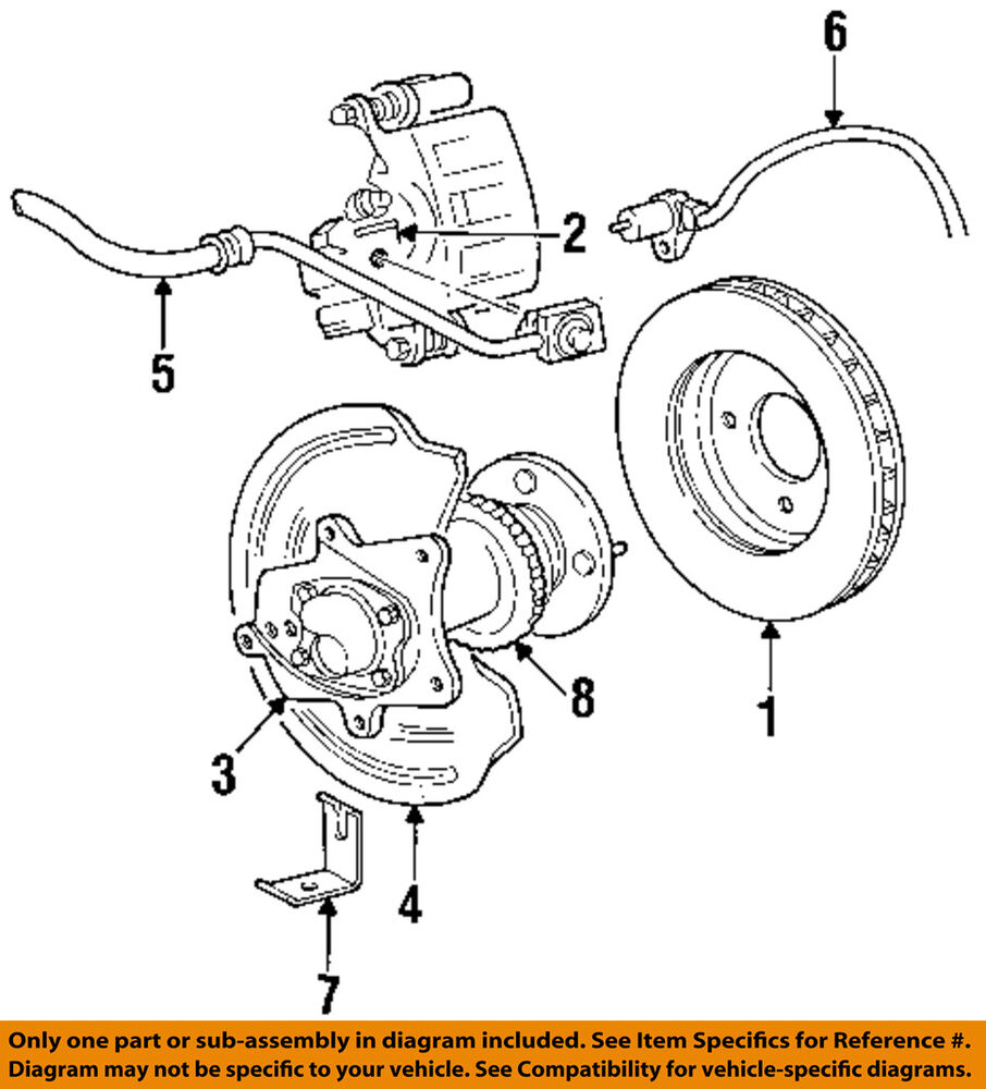hight resolution of details about ford oem 94 04 mustang rear brake rotor f8zz2c026aa