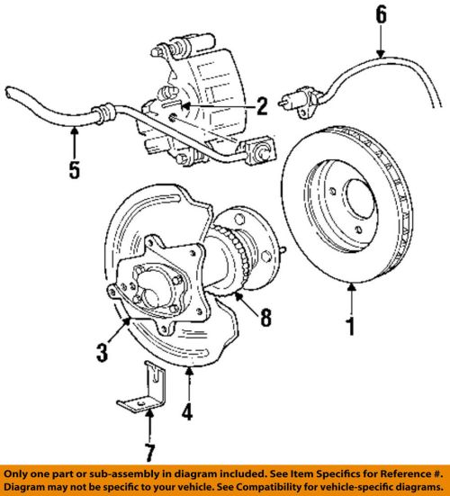 small resolution of details about ford oem 94 04 mustang rear brake rotor f8zz2c026aa