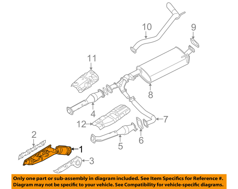 medium resolution of details about nissan oem 09 15 titan exhaust manifold 14002zt02c