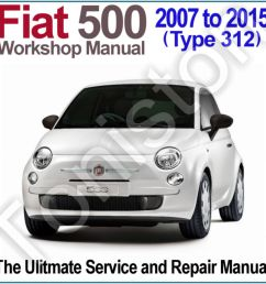fiat 500 type 312 2007 to 2015 workshop service and repair manual on [ 1000 x 1000 Pixel ]