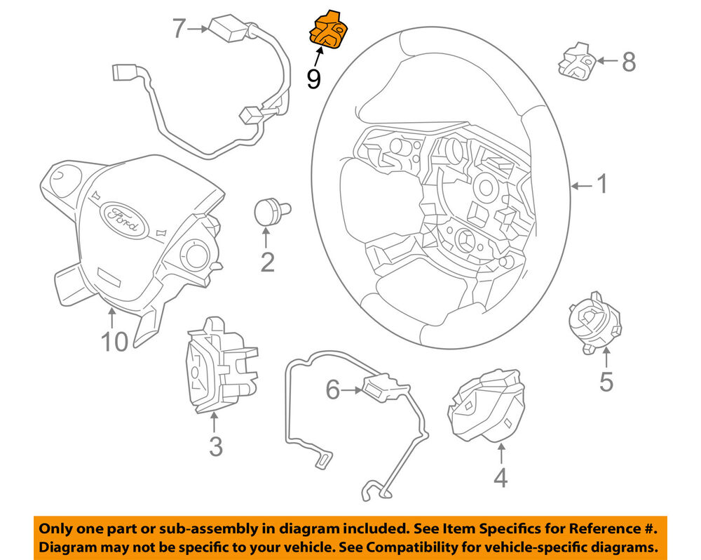hight resolution of details about ford oem 15 18 focus steering wheel paddle shifter switch button f1ez3f884a