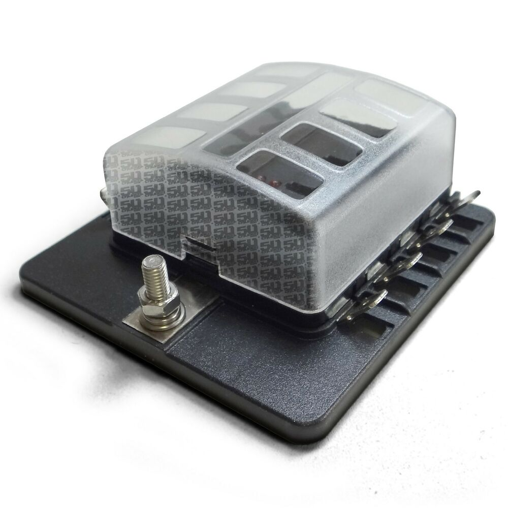 hight resolution of details about universal 8 way standard led circuit blade fuse box kit warning light horn radio