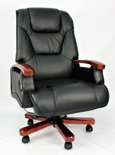 executive office chairs Genuine Leather Full Recliner Executive Office Chair Superb Quality Black Swivel | eBay