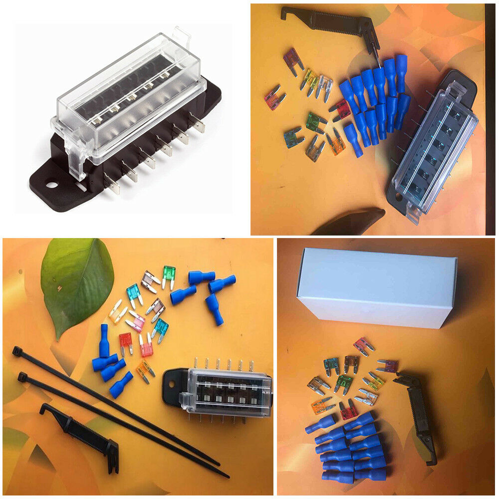 hight resolution of details about 6 way circuit blade fuse box block fuse holder set transparent cover dustproof