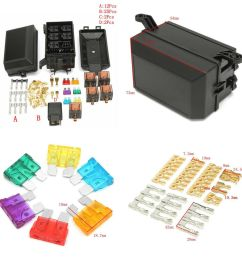 details about car truck plastic metal fuse box 6 relay socket holder 5 road insurance holder [ 1000 x 1000 Pixel ]