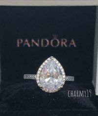 NEW!Authentic Pandora Radiant Teardrop Clear CZ Ring ...