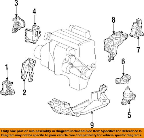 small resolution of details about honda oem 97 01 prelude engine motor mount torque strut 50810s30980